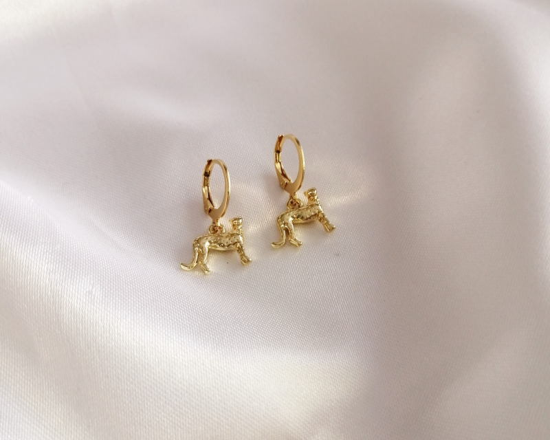 Earrings Met Luipaard