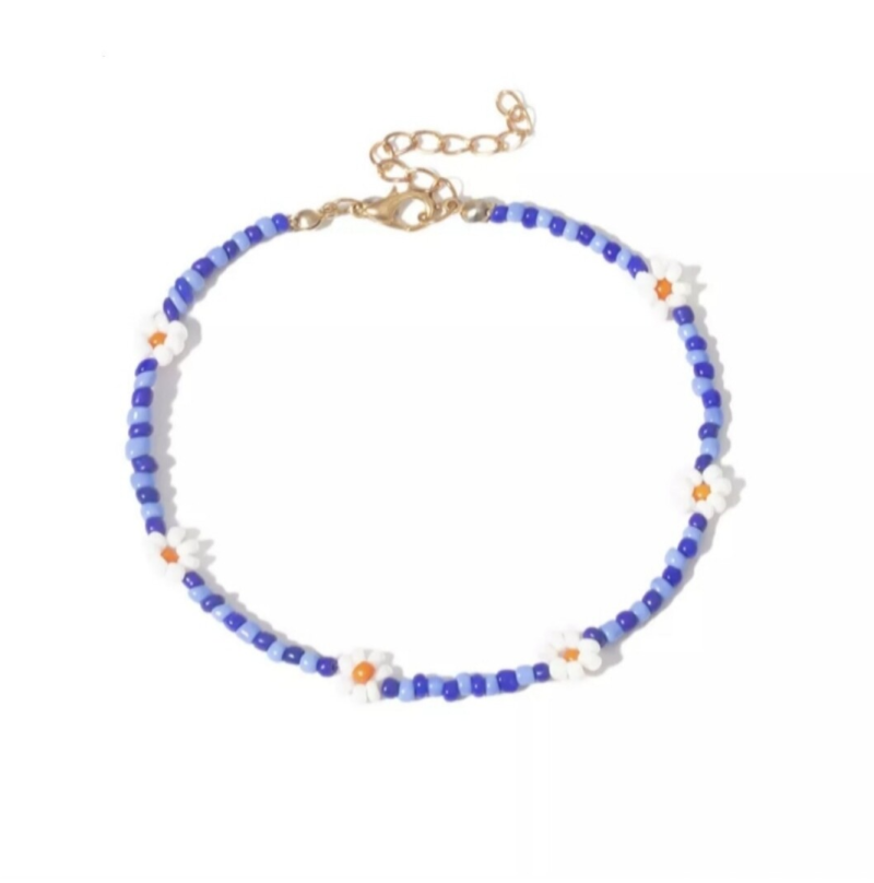 Blue Flower - Anklet
