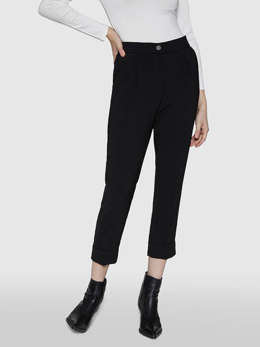 ALPHA STUDIO WOVEN PANTS BLACK