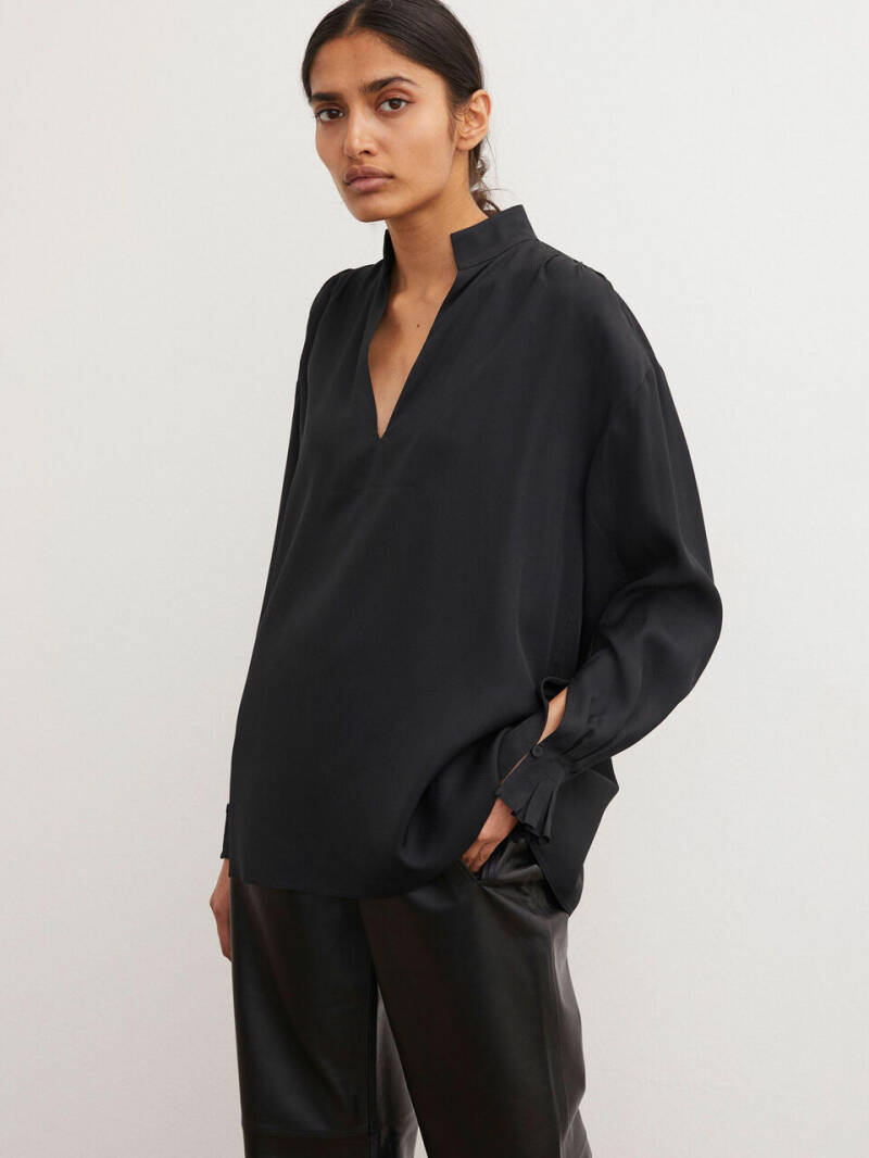 BY MALENE BIRGER CENTIA BLOUSE BLACK