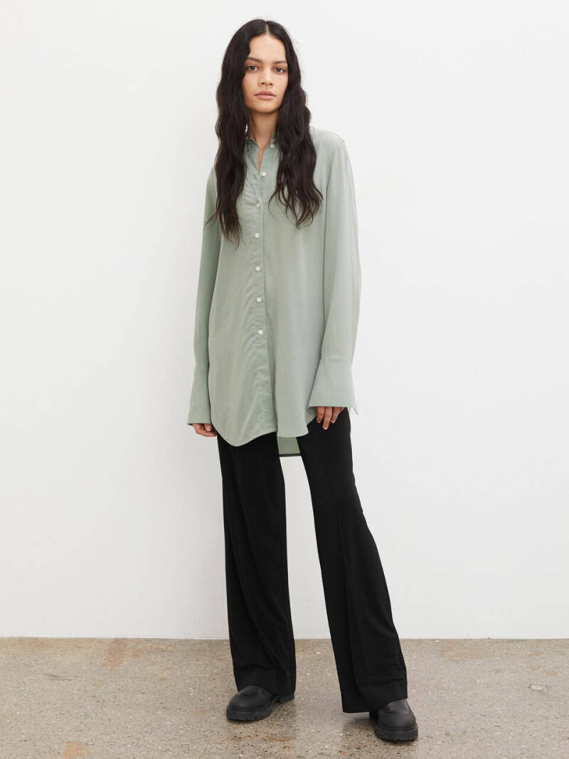 BY MALENE BIRGER COLOGNE SHIRT SOFT GREEN