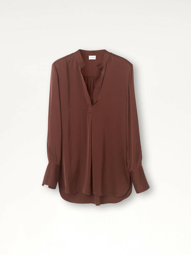BY MALENE BIRGER MABILLON BLOUSE DARK PLUM