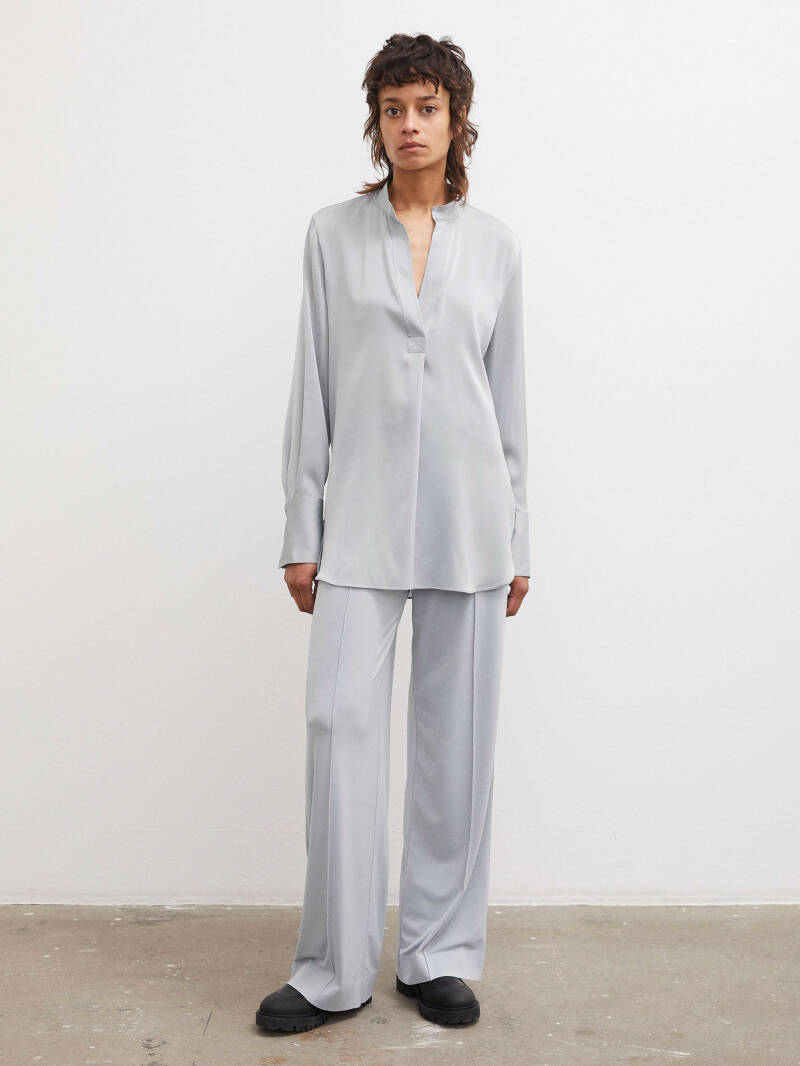 BY MALENE BIRGER MABILLON BLOUSE ICE BLUE