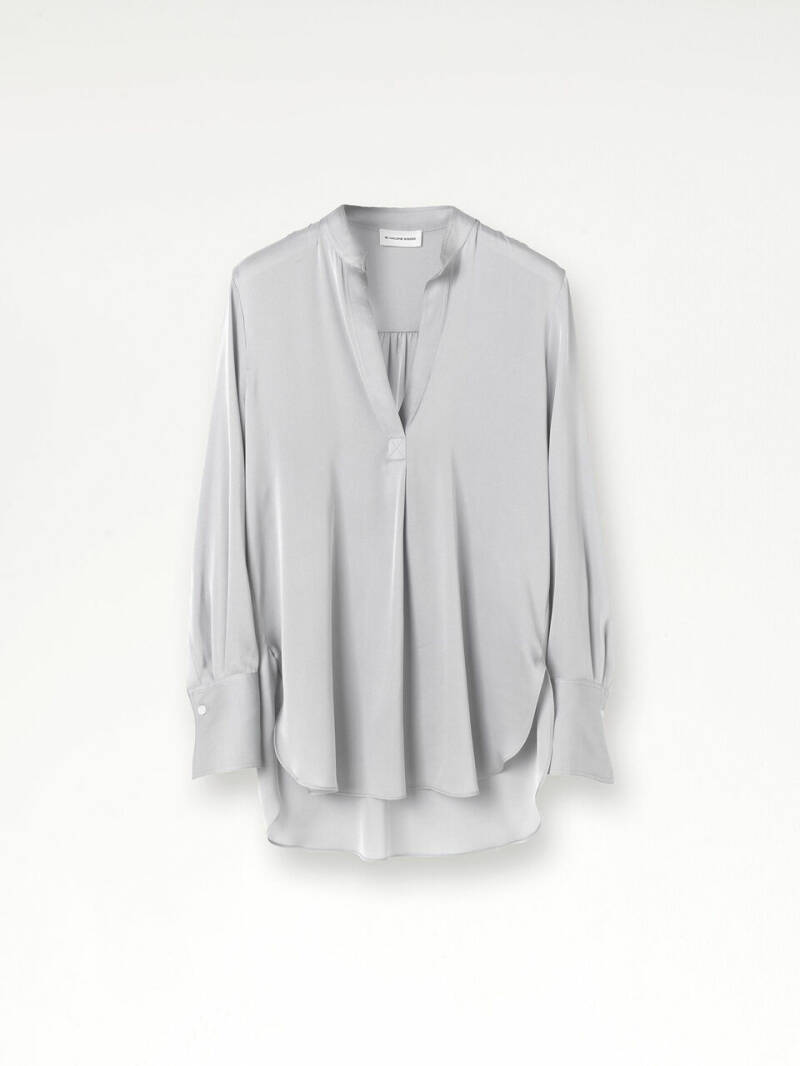 BY MALENE BIRGER MABILLON BLOUSE SILVER