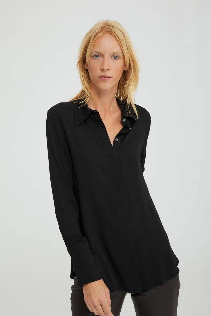 DRYKORN CHLARIS BLOUSE BLACK