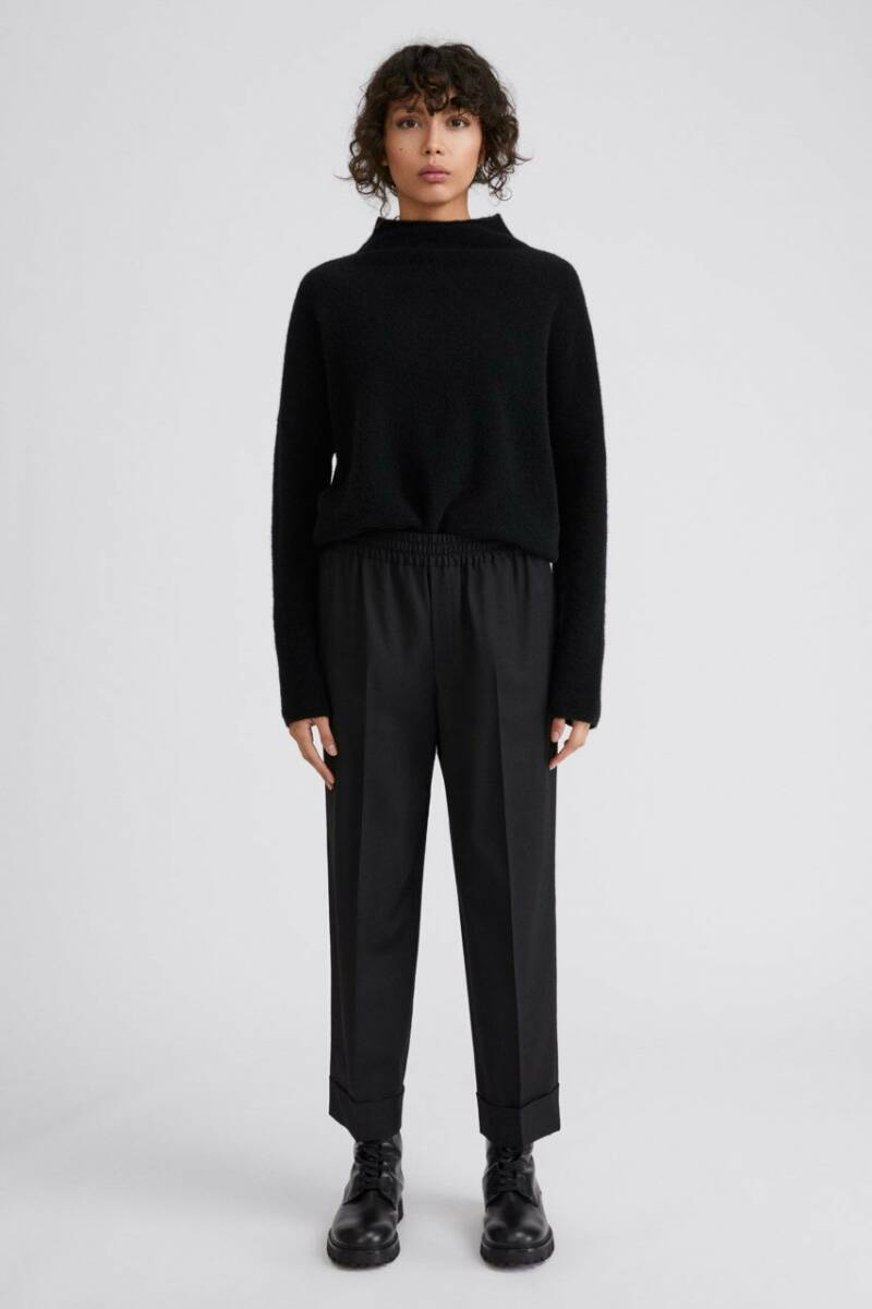 FILIPPA K FRANCA COOL WOOL TROUSER BLACK