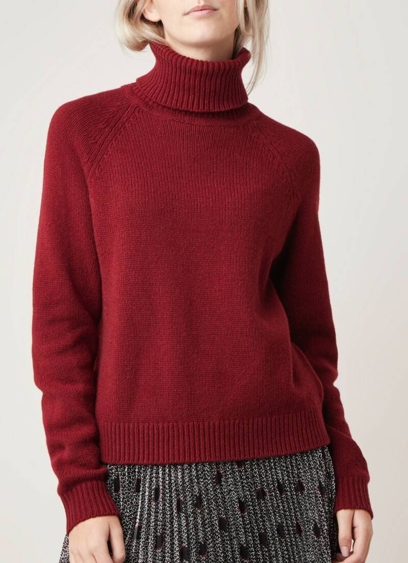 FILIPPA K KATHLEEN SWEATER DARK RED