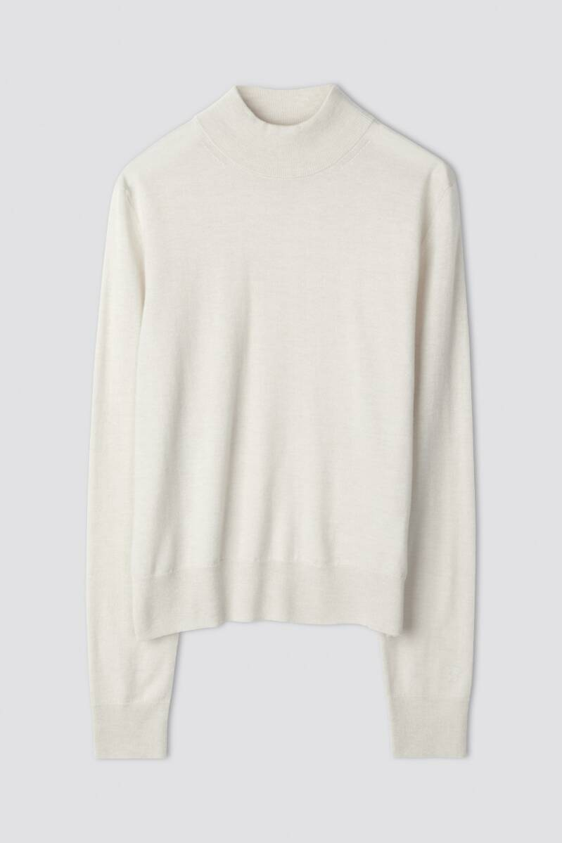 FILIPPA K LYNN SILK MIX SWEATER IVORY