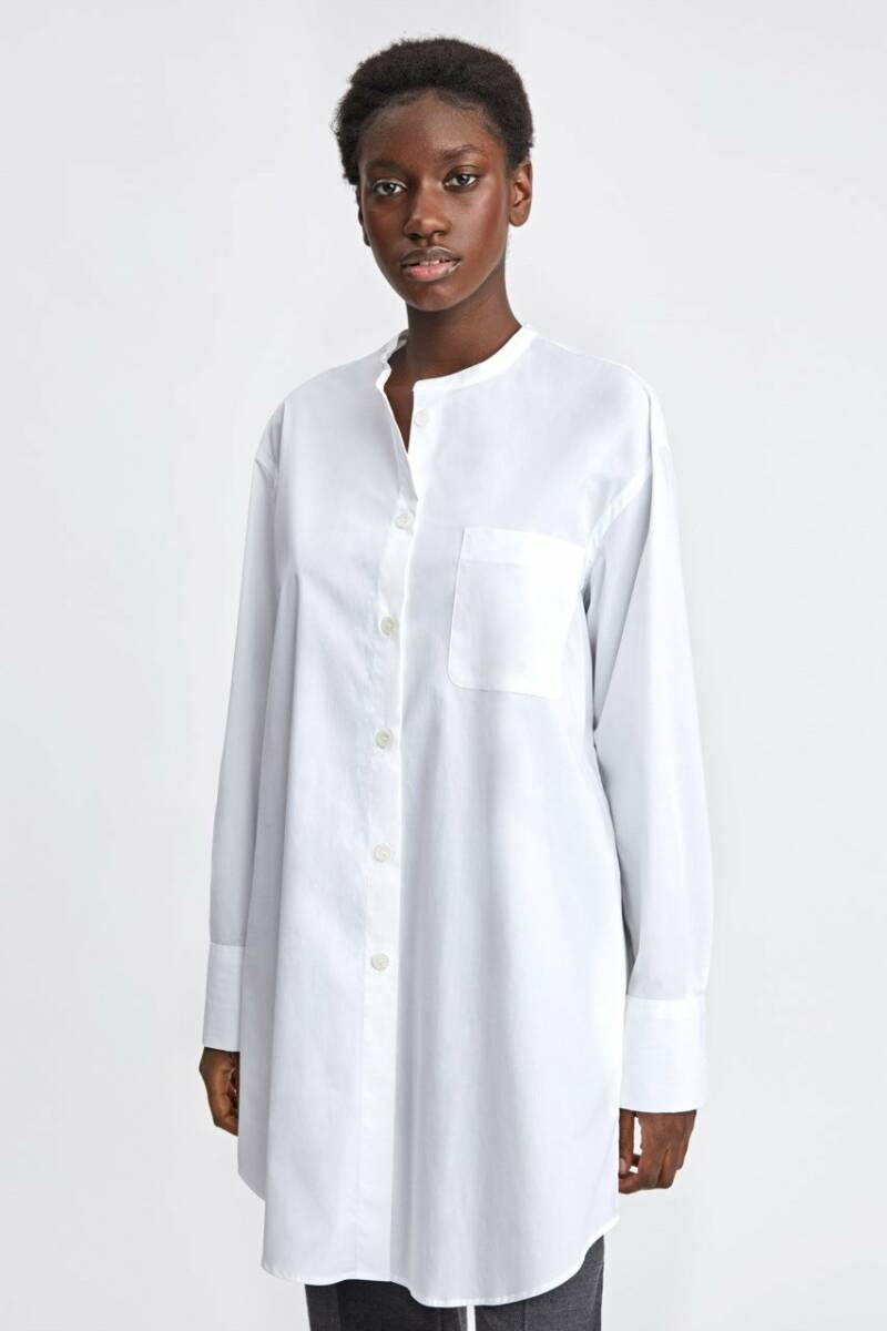 FILIPPA K POPLIN SHIRT DRESS WHITE