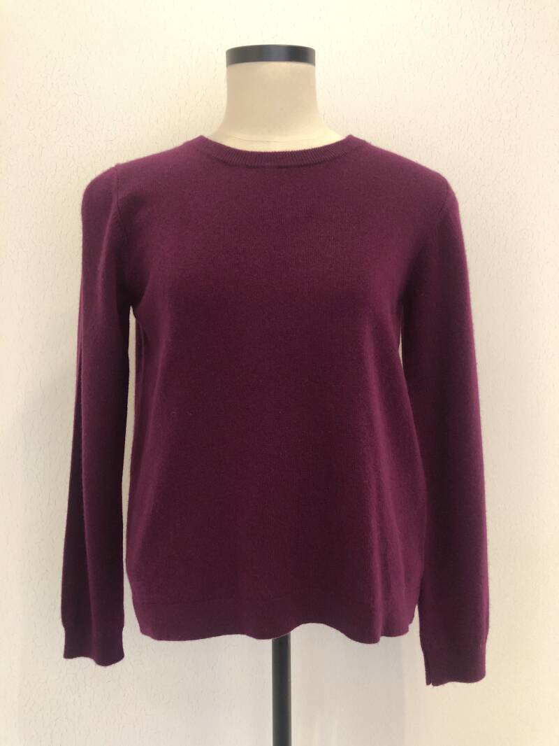 JUMPER 1234 SPLIT CREW NECK DARK RED