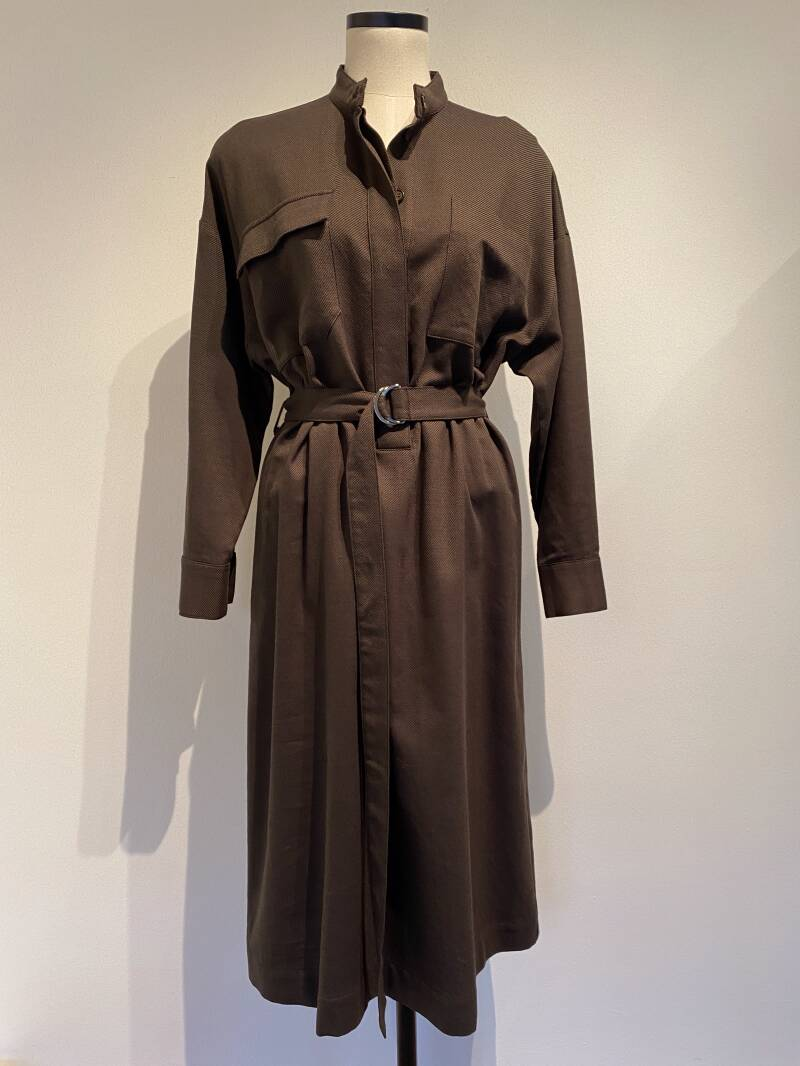 LOVECHILD 1979 EMANUELLE DRESS BROWN