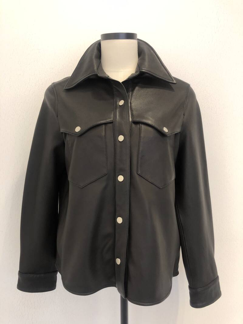 NORR LENNA LEATHER SHIRT