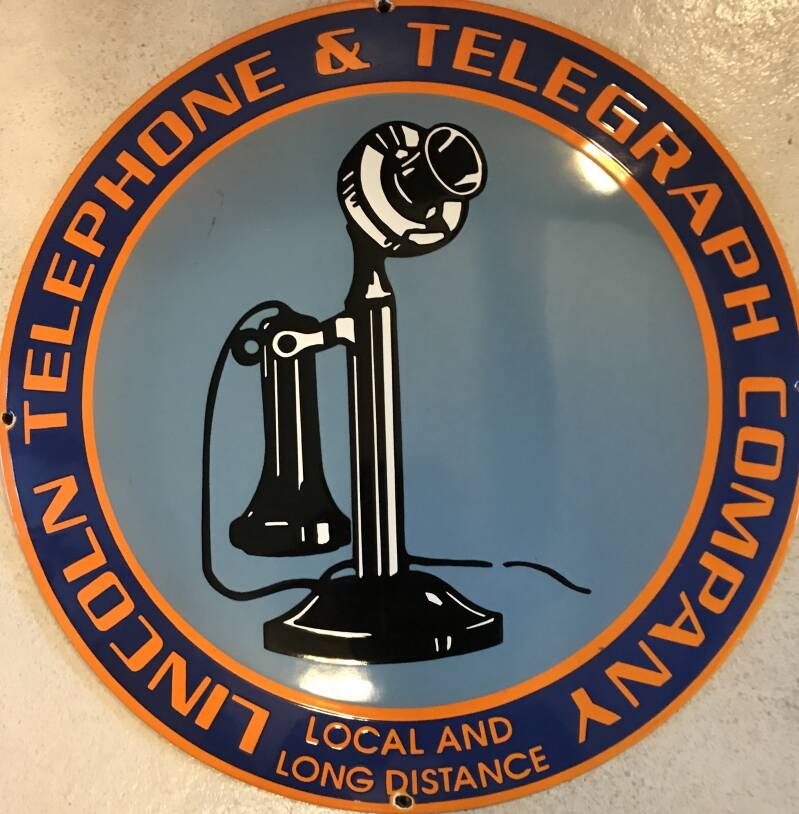 Emaille Wandbord Lincoln Telephone and Telegraph Company