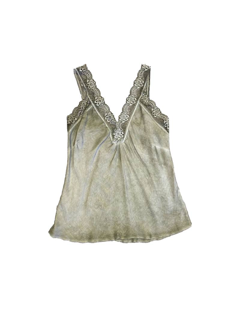 Top satin lace green