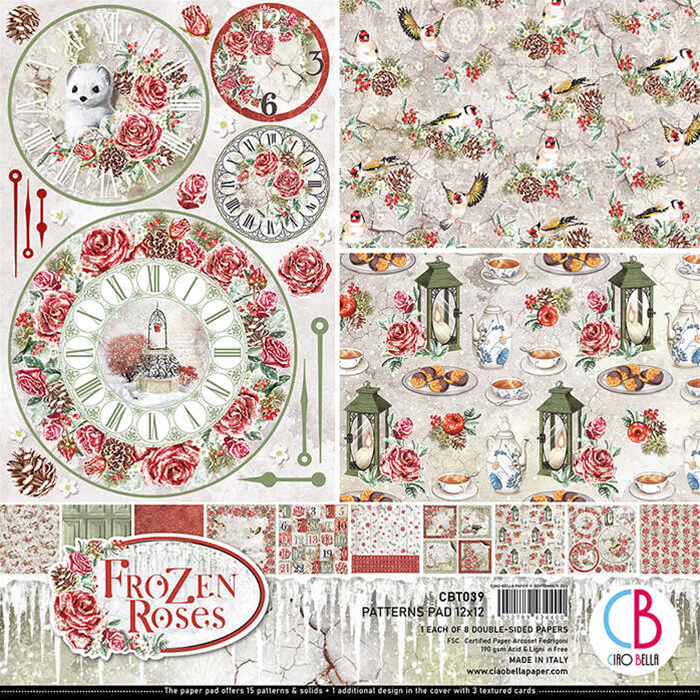 PATTERNS PAD  FROZEN ROSES