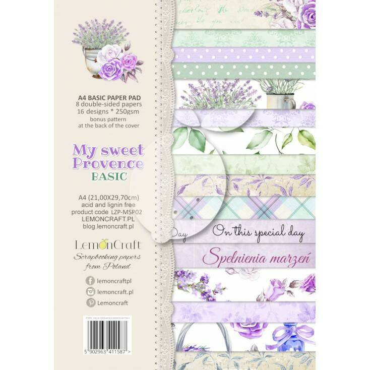 PAPER PAD MY SWEET PROVENCE