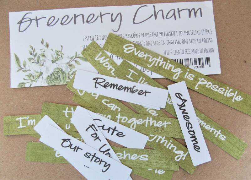 GREENERY CHARM QUOTES