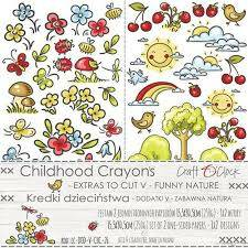 EXTRAS CHILDHOOD CRAYONS  NR V FUNNY NATURE
