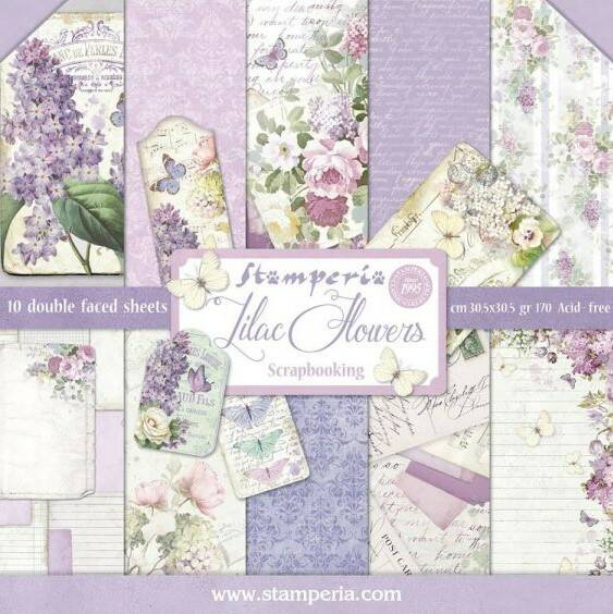 PAPER PAD LILAC FLOWERS