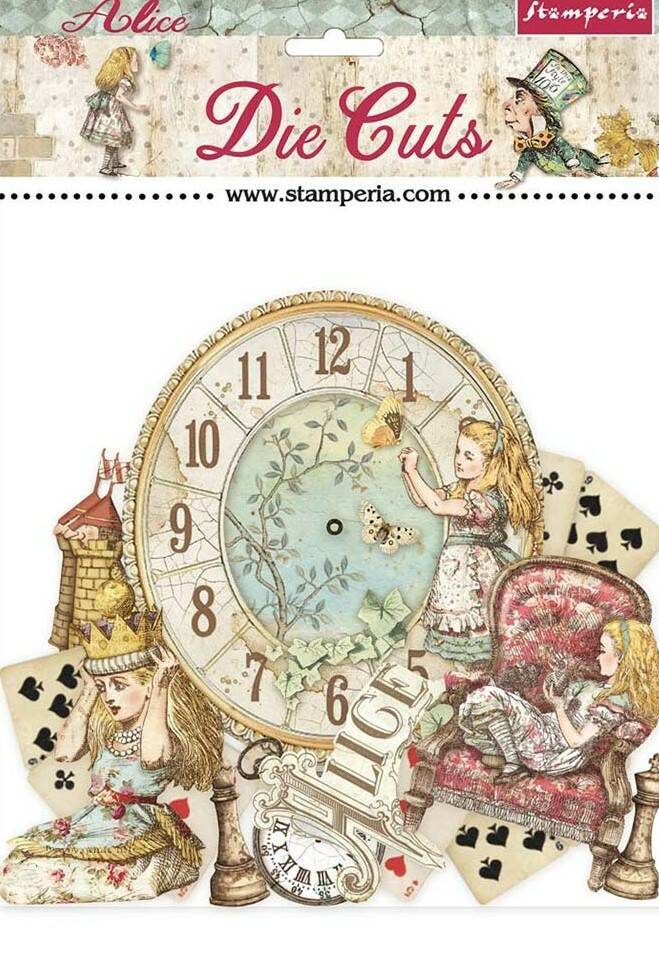 DIE CUTS ALICE THROUGH THE LOOKING GLASS