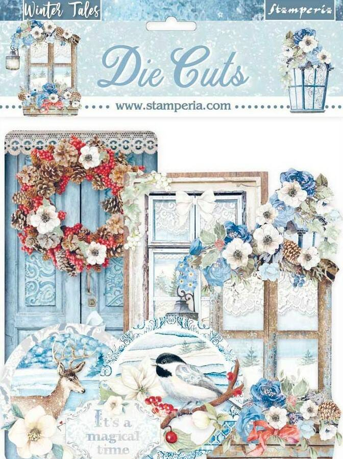 WINTERTALES LABELS AND TAGS DIE-CUTS