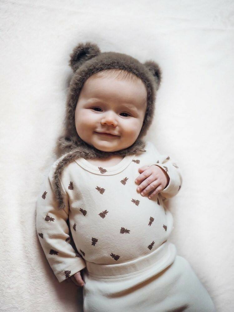 Mini Bear Baby Bodysuit