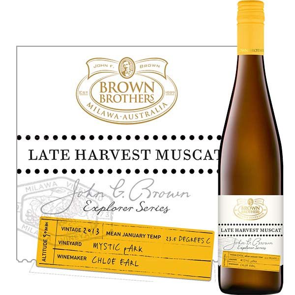 """Late Harvested Muscat, """"Explorer Series"""" Brown Brothers, Australië"""