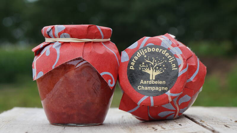 Aardbeien Champagne Confiture