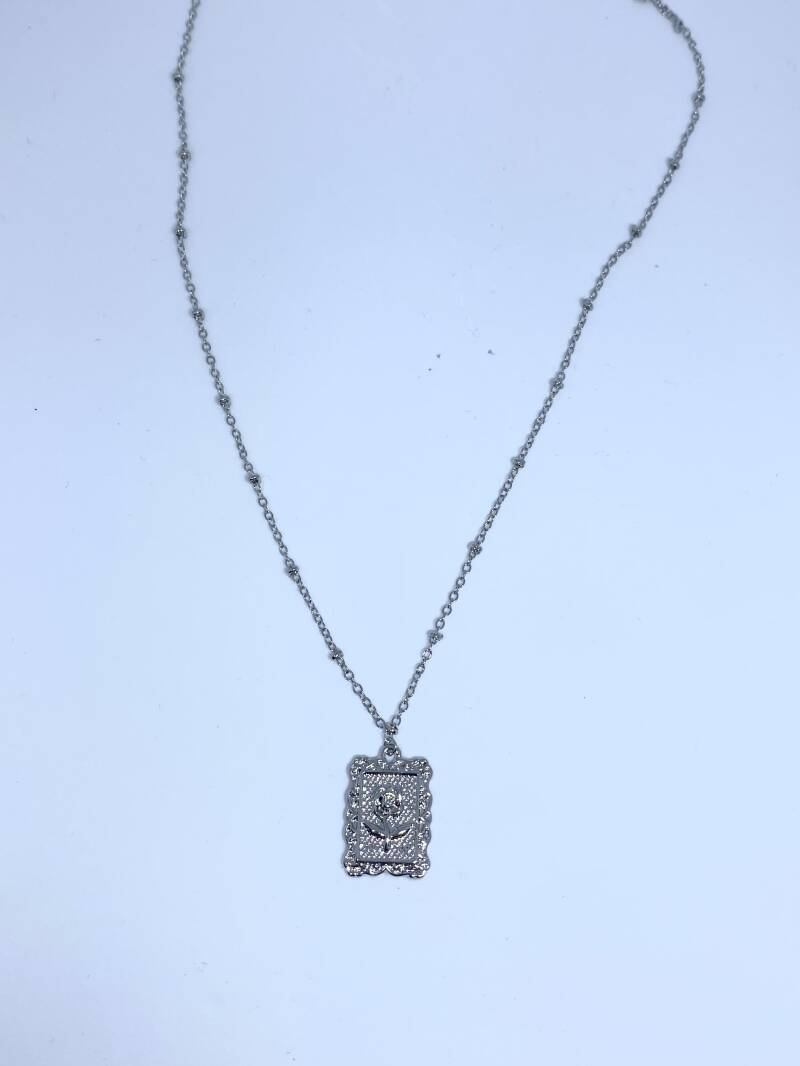 roostag ketting ZILVER