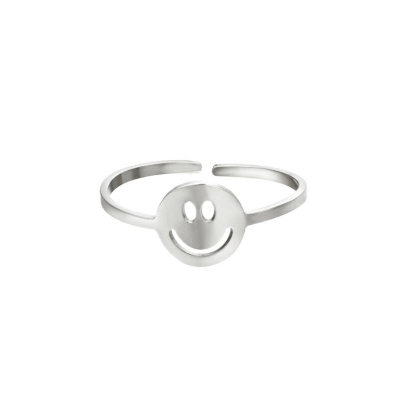smile ring ZILVER