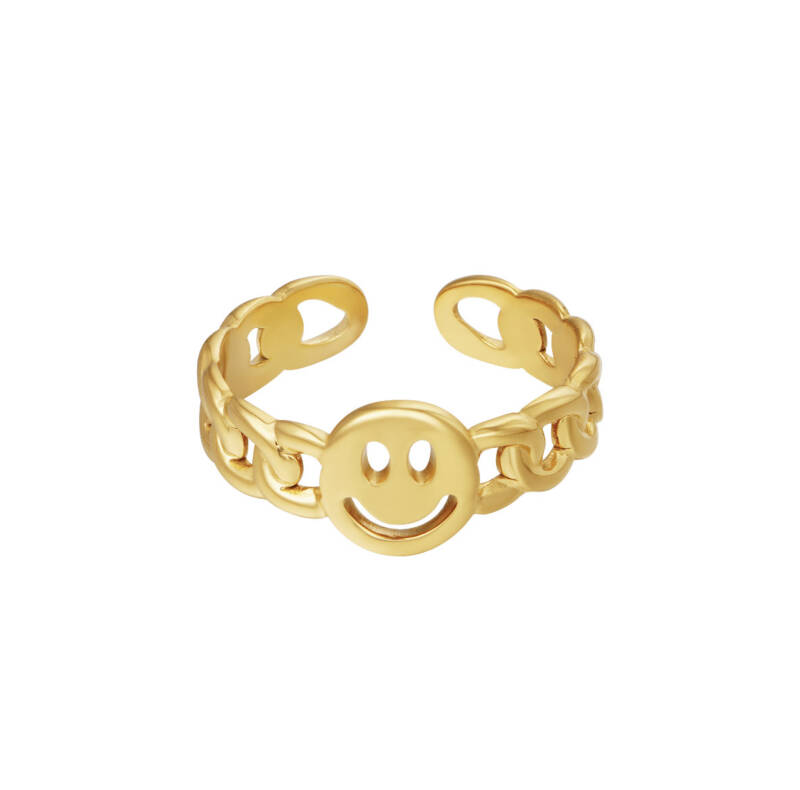 twisted smile ring GOUD