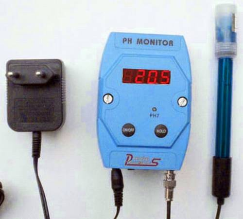 pH monitor met elektrode