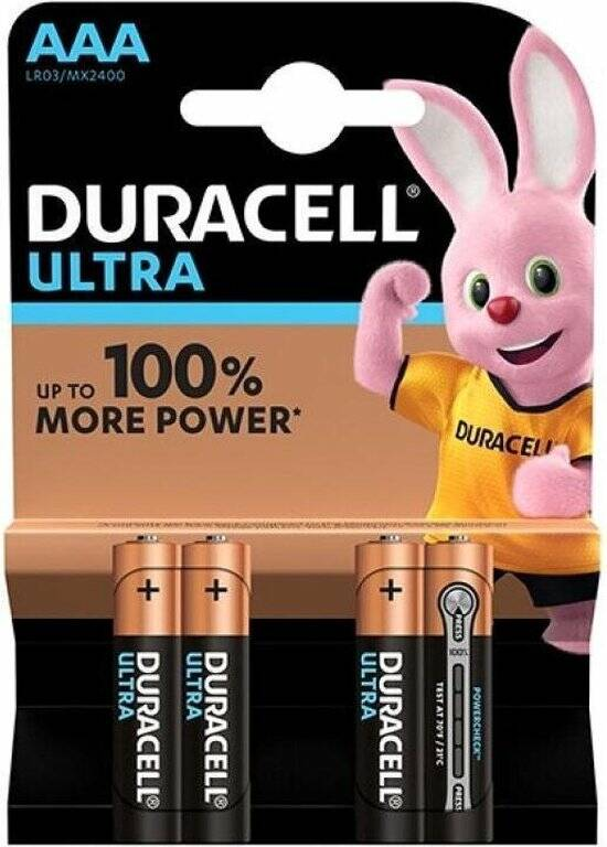 Piles alcalines AAA Duracell  - 4 pieces