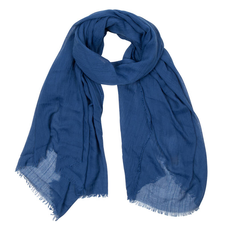 Sjaal with a message Denim Blue : CONFIDENT