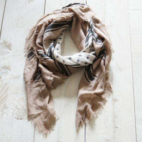 Sjaal 'Royal' beige