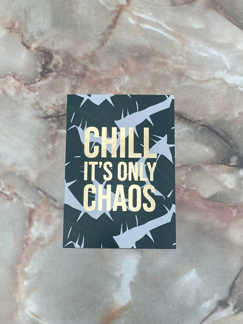 Postkaart Chill It's Only Chaos