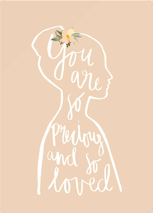 "Postcard ""You are so precious and so loved"" A5"