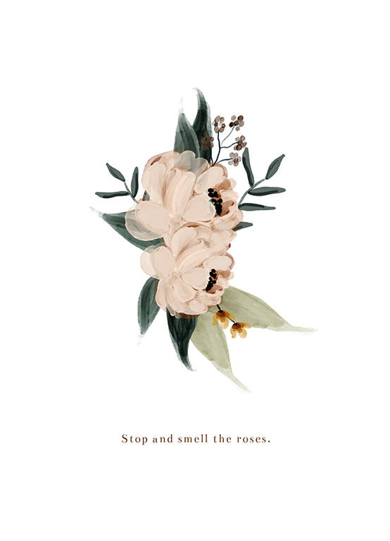 """Postcard """"Stop and smell the Roses"""""""