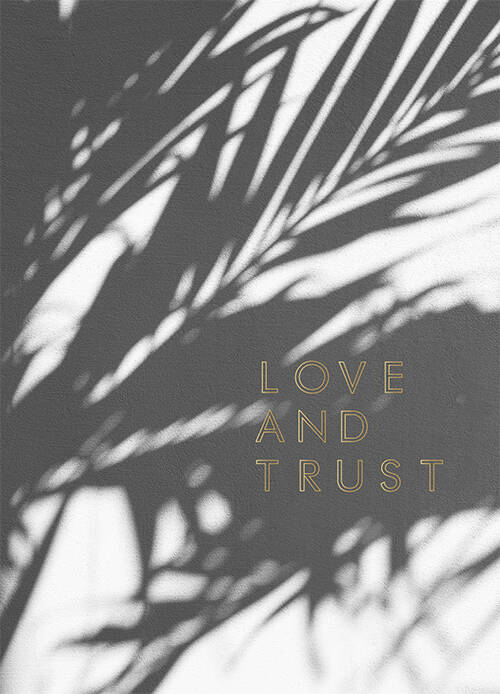 "Postcard ""Love and Trust"" A5"