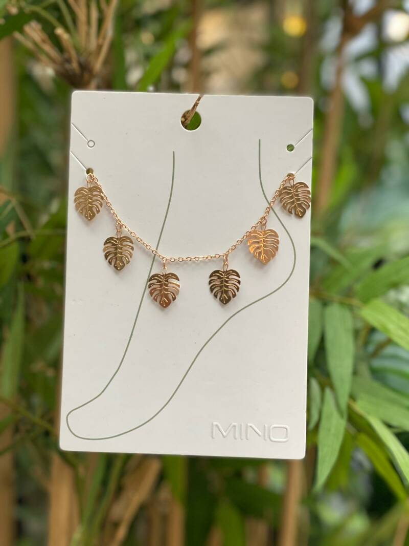 Juleeze Anklet Gold WIth Leaves