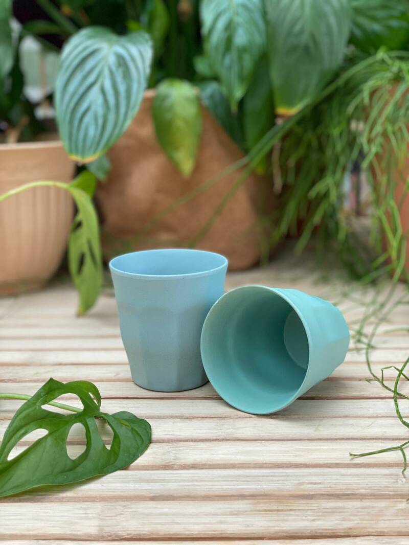 Bamboo Cup Blue