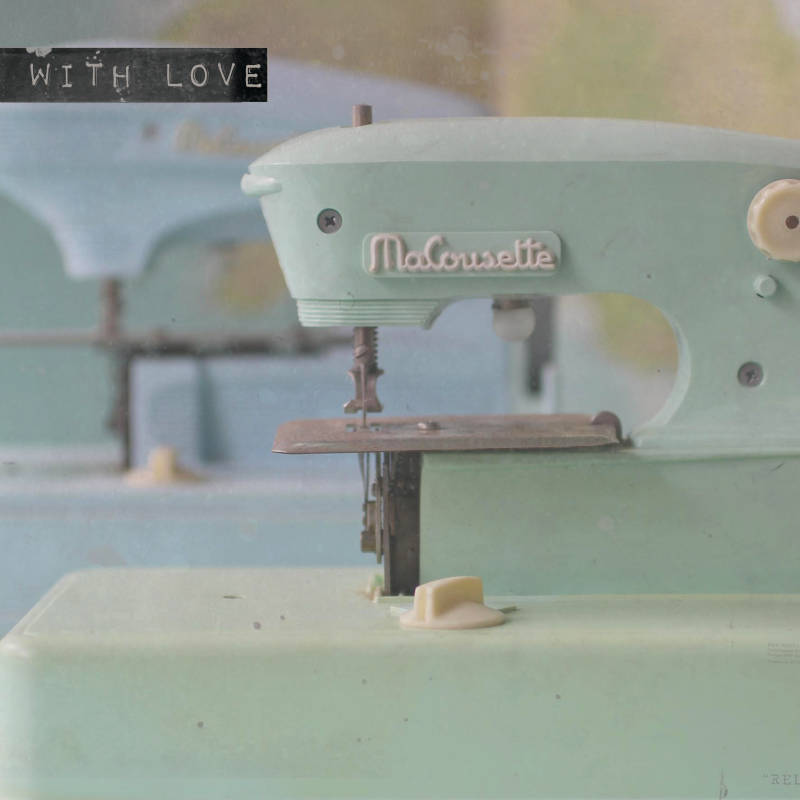 "With Love Postcard ""Sewingmachine"""