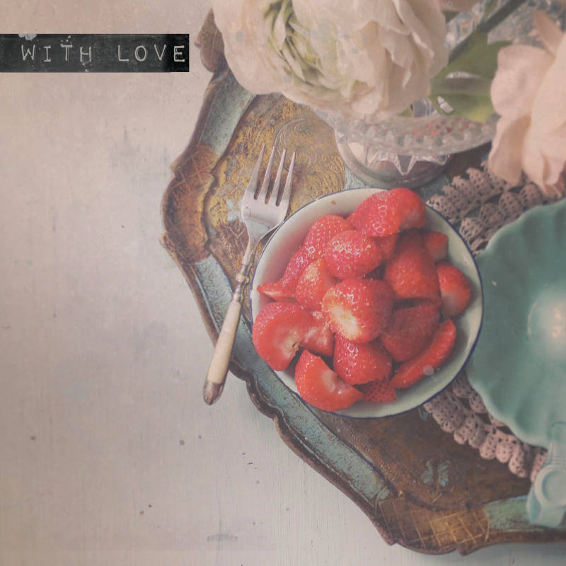 """With Love Postcard """"Strawberries"""""""