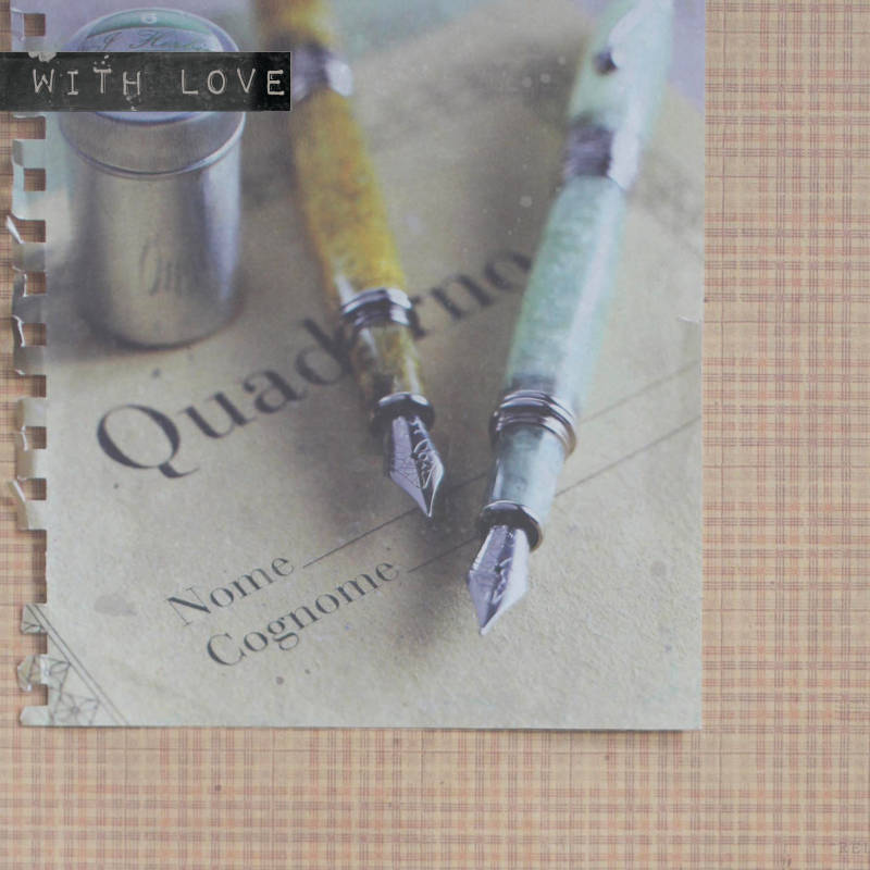 """With Love Postcard """"Fountainpens"""""""