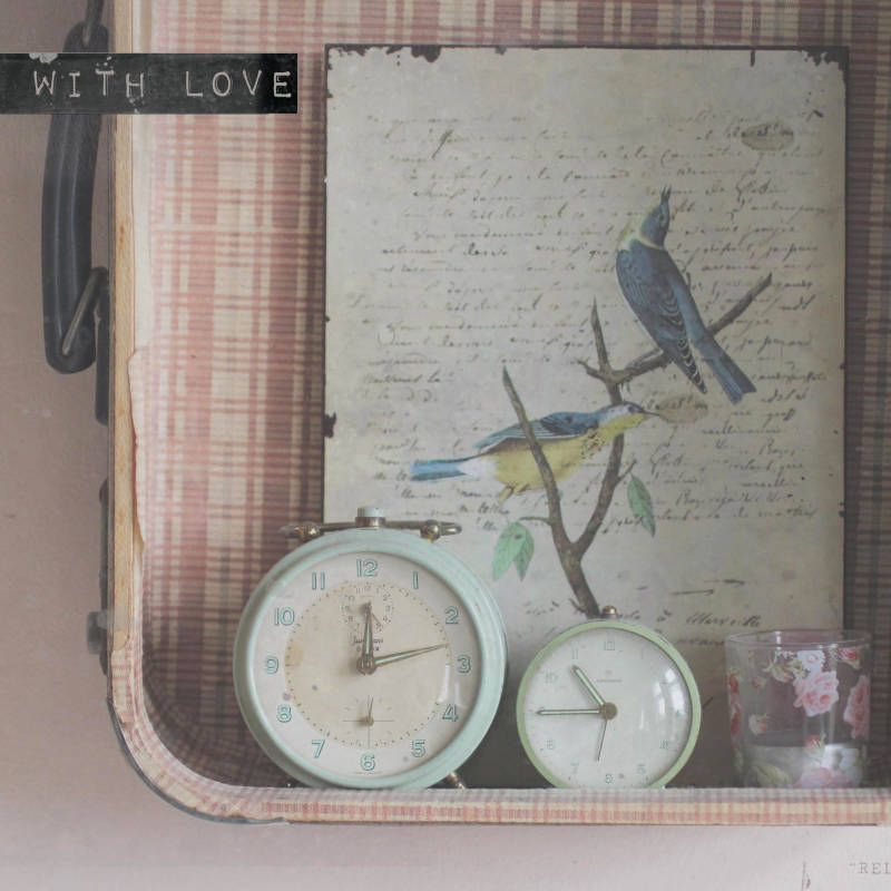 "With Love Postcard ""Clocks"""