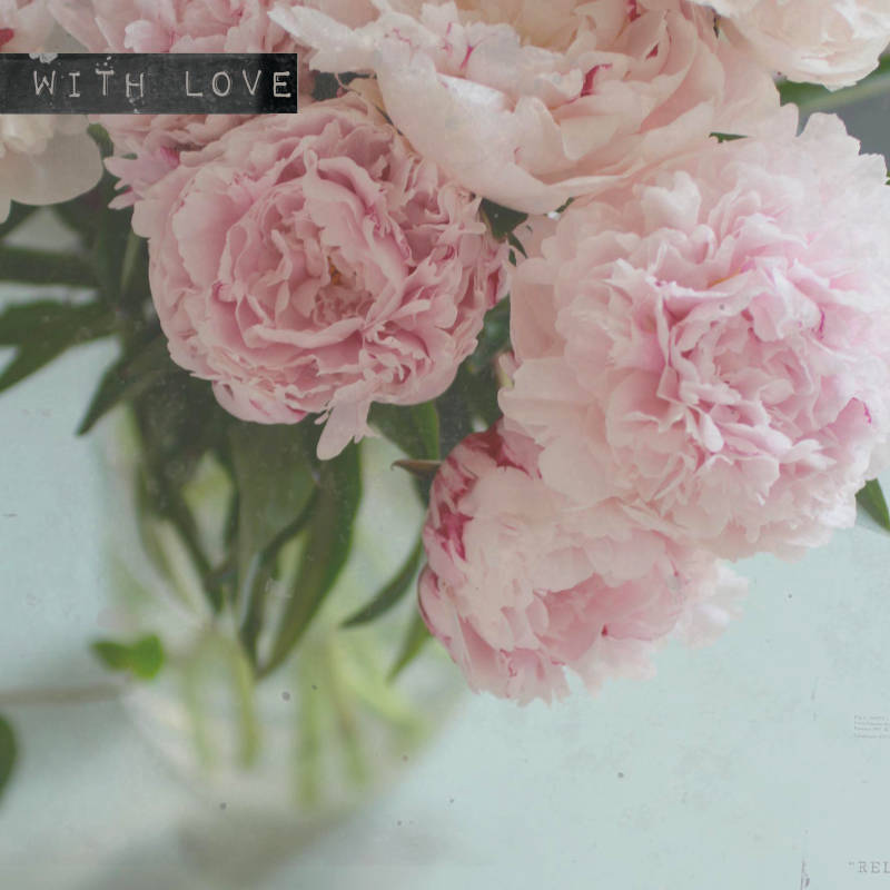 "With Love Postcard ""Peonies"""