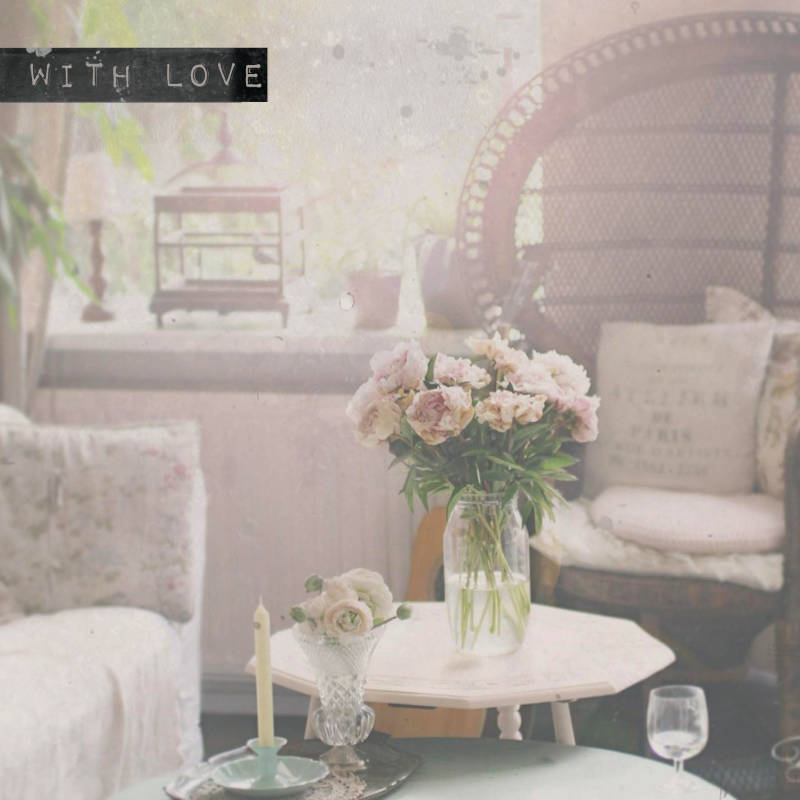 "With Love Postcard ""Living Room"""