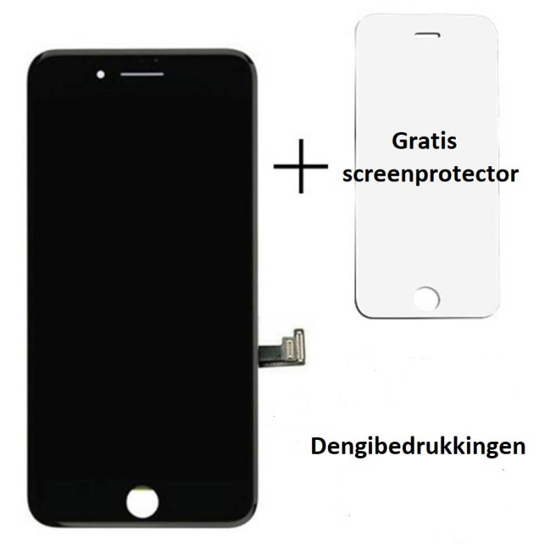 Apple Apple iPhone 8 beeldscherm en LCD - OEM met gratis screenprotector