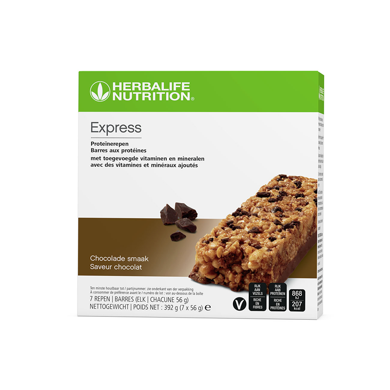 096K Express Proteïnereep chocolade 7 repen 7x56g