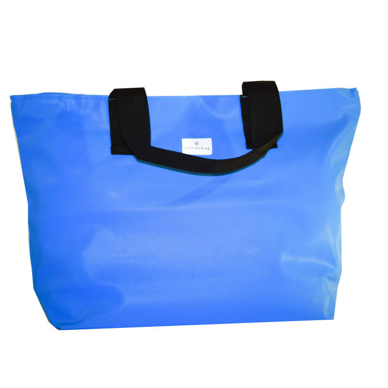 Soothing Blue - ZIPPER TOTEBAG XL